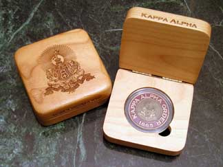 Kappa Alpha Order laser engraved AirTite holder presentation box